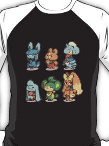 animal crossing pokemon crossover T-Shirt