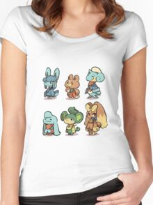 animal crossing pokemon crossover Women's Fitted Scoop T-Shirt