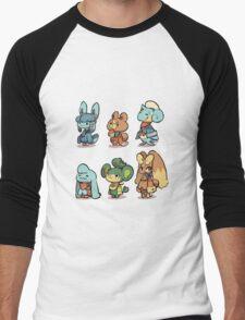 animal crossing pokemon crossover Men's Baseball ¾ T-Shirt