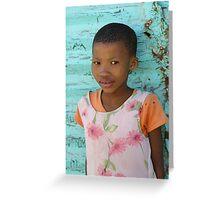 Bushman Girl Greeting Card