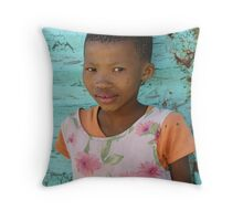 Bushman Girl Throw Pillow