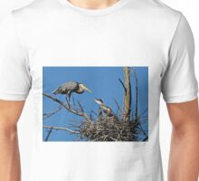 Great Blue Heron with Babies - Ottawa, Ontario Unisex T-Shirt