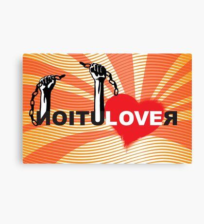 LOVE REVOLUTION graffiti illustration Canvas Print