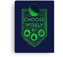 pokemon choose wisely Canvas Print