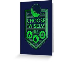 pokemon choose wisely Greeting Card