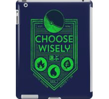 pokemon choose wisely iPad Case/Skin