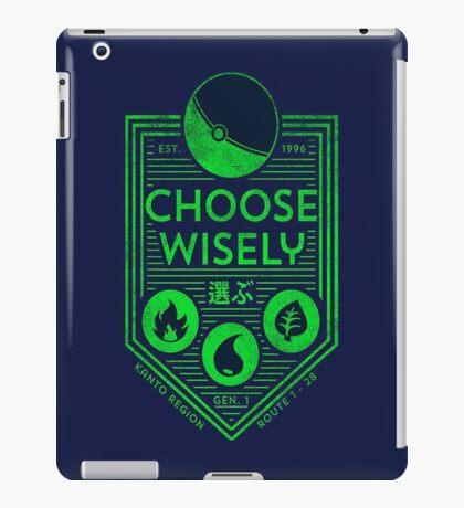 pokemon choose wisely iPad Case/Skin