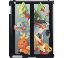 pokemon 3rd gen starters megaevolved cool design iPad Case/Skin