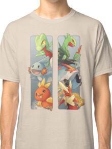pokemon 3rd gen starters megaevolved cool design Classic T-Shirt