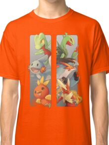 pokemon 3rd gen starters megaevolved cool design Classic T-Shirt