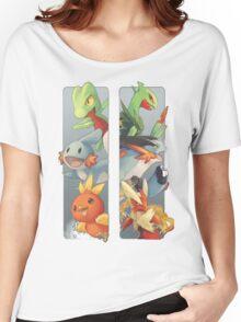 pokemon 3rd gen starters megaevolved cool design Women's Relaxed Fit T-Shirt