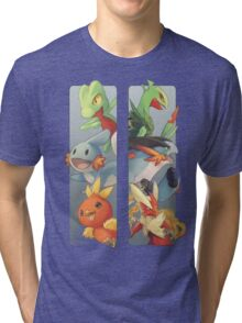 pokemon 3rd gen starters megaevolved cool design Tri-blend T-Shirt