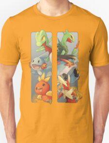 pokemon 3rd gen starters megaevolved cool design Unisex T-Shirt