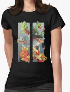 pokemon 3rd gen starters megaevolved cool design Womens Fitted T-Shirt