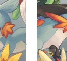 pokemon 3rd gen starters megaevolved cool design Sticker