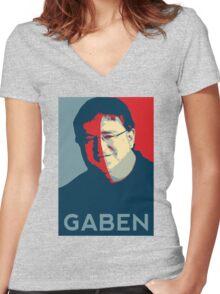 GABEN Women's Fitted V-Neck T-Shirt