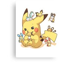 pikachu electric rodents Canvas Print