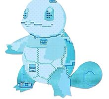 squirtle cool design old school pokemon by MasterRacePC