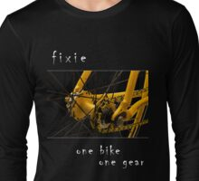 Fixie - one bike, one gear (black) Long Sleeve T-Shirt