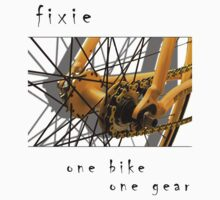 Fixie - one bike, one gear (white) by Stefan Trenker