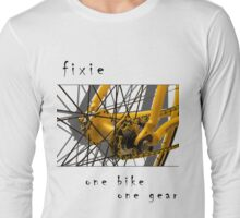 Fixie - one bike, one gear (white) Long Sleeve T-Shirt