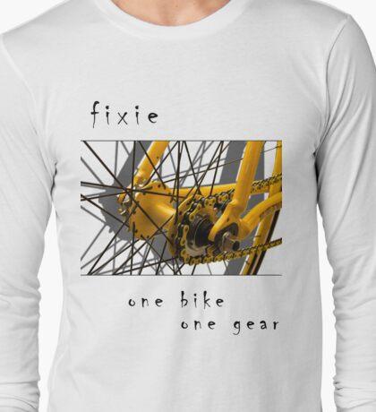 Fixie - one bike, one gear (white) Long Sleeve T-Shirt