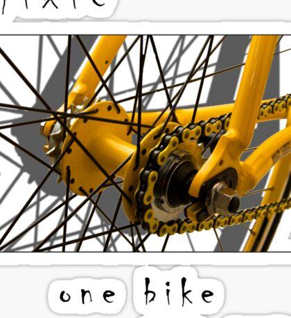 Fixie - one bike, one gear (white) Sticker