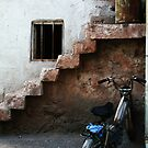 Bike And Stairs In Cappadocia by Josh Wentz
