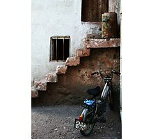 Bike And Stairs In Cappadocia Photographic Print