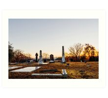 Cemetary Sunrise Art Print