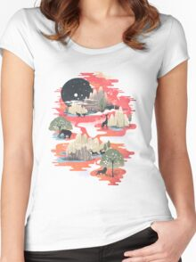 Landscape of Dreams Women's Fitted Scoop T-Shirt