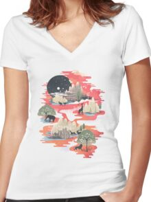 Landscape of Dreams Women's Fitted V-Neck T-Shirt