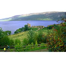 Loch Ness And Castle Photographic Print