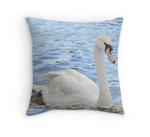 A Mute Swan On A Sunny Day. Throw Pillow