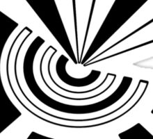 Mandala 15 Back In Black Sticker