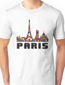 Paris Skyline Made With Lego Like Blocks Unisex T-Shirt
