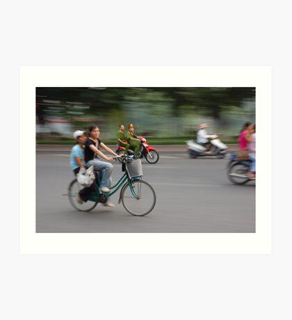 Hanoi Cyclists Art Print