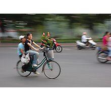 Hanoi Cyclists Photographic Print