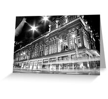 Queen Victoria Building BW Greeting Card