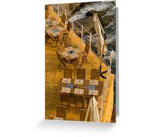 Tables at sea Greeting Card