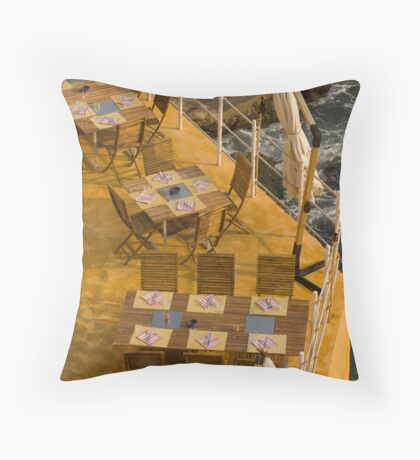 Tables at sea Throw Pillow
