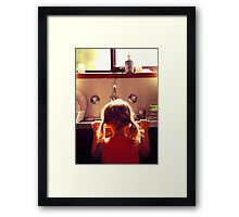 Ice in the sink Framed Print