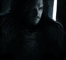 Jon Snow on Black by Tiia Öhman