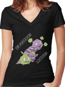 The Pollution Solution Women's Fitted V-Neck T-Shirt