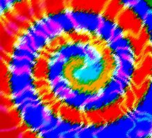 Tie Dye Swirls 3 by Susan Sowers
