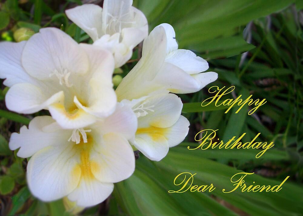 Happy Birthday Dear Friend by TLCGraphics
