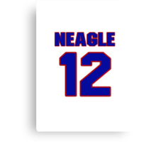National baseball player Denny Neagle jersey 12 Canvas Print