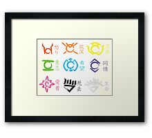Lantern Corps Calligraphy Framed Print