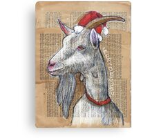 Christmas Goat Canvas Print