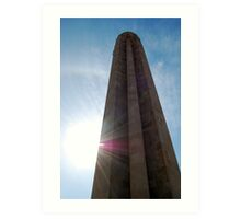 Mid Day at the National World War I Memorial  Art Print